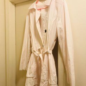 Darling ruffled raincoat